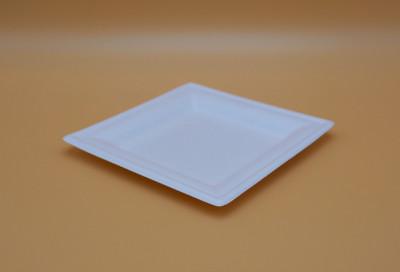 ASSIETTE CARREE PLATE BLANCHE GAMME BIO CANNE À SUCRE - 160 MM (50 U)
