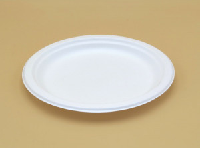ASSIETTE RONDE PLATE BLANCHE EN CARTON - DIAMETRE 230 MM (100 U)
