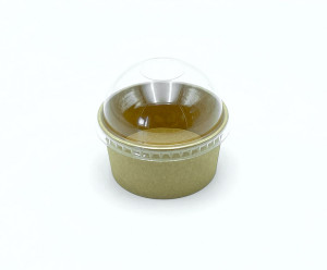 COUVERCLE DOME PET 6/8OZ POUR POT C4G521B - 521BA(50 U)