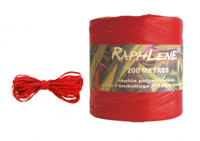 PELOTE RAPHLENE ROUGE - L.200 METRES (1 U)