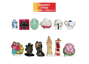 FEVES SOUVENIR DE CHINE BRILLANT 3D (12 MODELES) (100 U)