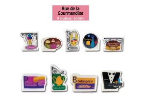 FEVES COLLECTION « RUE DE LA GOURMANDISE » (9 MODELES) (100 U)