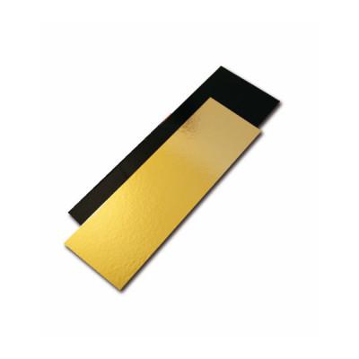SEMELLE A BUCHE NOIR/OR 60x10 CM - BORDS DROITS (50 U)