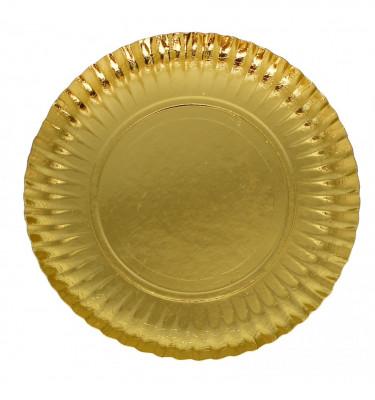 ASSIETTE EN CARTON OR 23 CM (50 U)