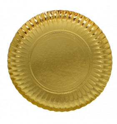 ASSIETTE EN CARTON OR 25 CM (50 U)