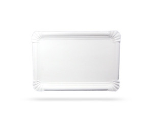 SUPPORT RECTANGULAIRE CARTON BLANC 230X170 MM (250 U)