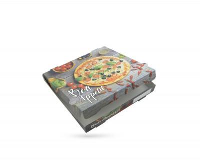 BOITE A PIZZA KRAFT BLANC IMPRESSION «BON APPETIT» 290X40 MM (100 U)