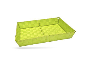 CORBEILLE RECTANGULAIRE VERT GM SANGLE NYLON 27X36X6 CM (48867) (1 U)