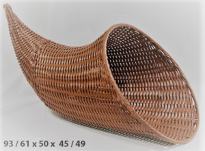 LICORNE MARRON GM POLYPROPYLENE 93/61X50/45/49 CM (47464) (1 U)