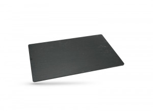 PLATEAU ARDOISE COULEUR ANTHRACITE RECTANGLE MODELE PIZZARA 60X40 CM (1 U)