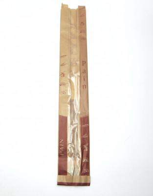 SAC KRAFT BRUN AVEC FENETRE - FLUTE 90X65X600 MM (1000 U)