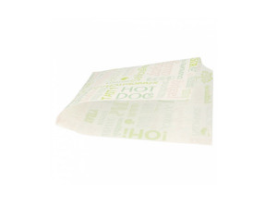 SACHET BURGER BLANC «PAROLE» OUVERT SUR 2 COTES 16X16.5 CM (500 U)