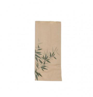 SACHET CROISSANT FEEL GREEN 14+7X22 CM ( 500 U )