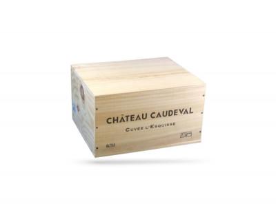 OFFERT A PARTIR DE 1000euros HT D'ACHAT- CAISSE BOIS 6 BOUTEILLES FRONTON (1 U)
