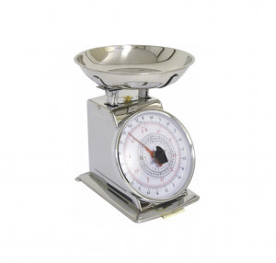 BALANCE INOX PLATE FORME CREUSE 5KG 26.5X21X20 CM GRADUATION: 20G (455.65) (1 U)