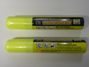 FEUTRE CRAIE GM FLUO JAUNE POINTE LARGE 15 MM (1 U)