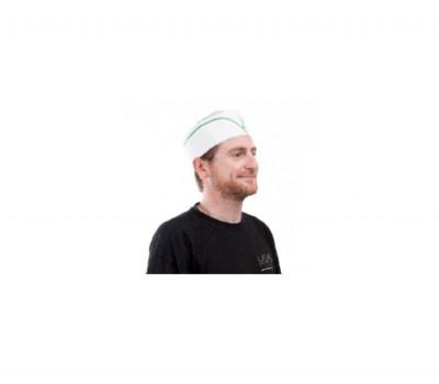 CALOT PAPIER LIGNE VERTE AJUSTABLE TAILLE STD (100 U)