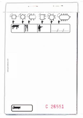 BLOC COMMANDE STANDARD TRIPLICATA 50X3 FEUILLES 10x15CM BLANC (177.91) (10 U)
