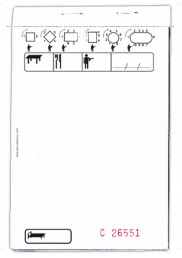 BLOC COMMANDE STANDARD TRIPLICATA 50X3 FEUILLES 10x15CM BLANC (10 U)