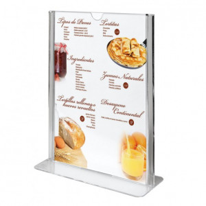 PORTE MENU VERTICAL PS TRANSPARENT 21X29.7 CM (199.66) (1 U)