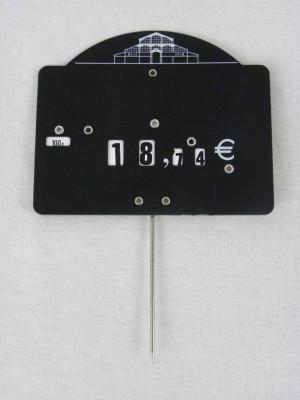 ETIQUETTE NOIRE A PIQUE LES HALLES 10X15 CM (00317) (10 U)