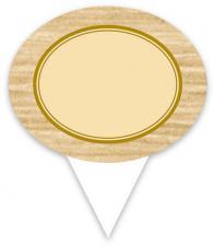 ETIQUETTE OVALE ECRU A PIQUE PVC BLANC 60X74 MM (07131) (10 U)