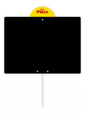 ETIQUETTE NOIRE PVC 0.75MM A PIQUE+DISQUE 15X20 CM (19005) (10 U)