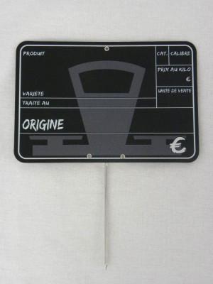 ETIQUETTE NOIRE BALANCE 15X10 CM (19338) (10 U)