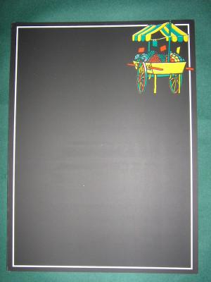 ARDOISE NOIRE COURS DES HALLES 22X30 CM (19455) (5 U)