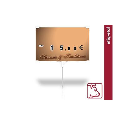 ETIQUETTE MARRON 12.5X8 CM «SAVEURS ET TRADITIONS» (21549) (10 U)