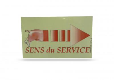 ETIQUETTE «SENS DU SERVICE» BOUCHERIE 15X20 CM DROITE (1 U)