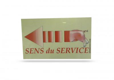 ETIQUETTE «SENS DU SERVICE» BOUCHERIE 15X20 CM GAUCHE (1 U)