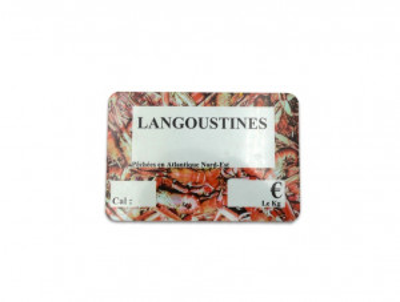 ETIQUETTE LANGOUSTINES 100X150 MM (1 U)