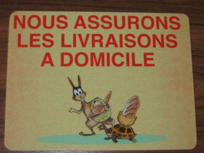 ETIQUETTE «NOUS ASSURONS LES LIVRAISONS A DOMICILE» BOULANGERIE 150X200 MM (1 U)