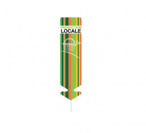 ETIQUETTE FLECHE 'PRODUCTION LOCALE' 6X22 CM (4170) (10 U)