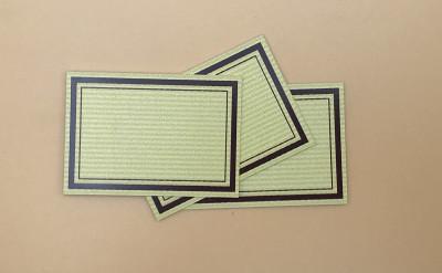 ETIQUETTE KRAFT LISERE MARRON 65 X 45 MM (A022) (65 U)