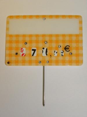 ETIQUETTE JAUNE QUADRILLEE A PIQUE+DISQUE 8X12 CM (3112) 10 U)