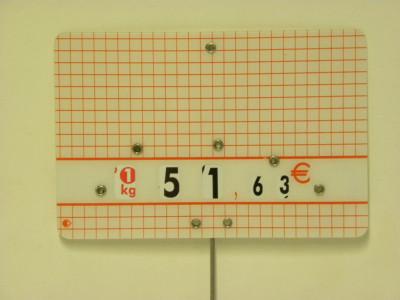 ETIQUETTE ROUGE QUADRILLEE A PIQUE+DISQUE 8X12 CM (3136) (10 U)