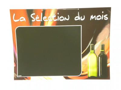 PANNEAU BOISSON 40X30 CM VINS «SELECTION DU MOIS» (5285) (1 U)