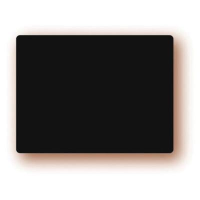 ETIQUETTE NOIRE PVC 6X4 CM (5331) (10 U)