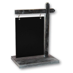 CHEVALET DE TABLE NOIR SUSPENDU 22X15 CM (5416) (1 U)