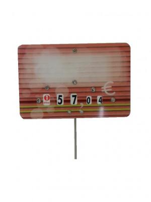 ETIQUETTE ROUGE BOUCHERIE «CANDIE» 7X10 CM A ROULETTE PIQUE INOX (10 U)