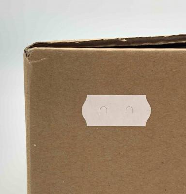 ÉTIQUETTE ADHÉSIVE BLANCHE 26X12 MM (ROULEAU DE 1500) (FER A CHEVAL) (7500 U)