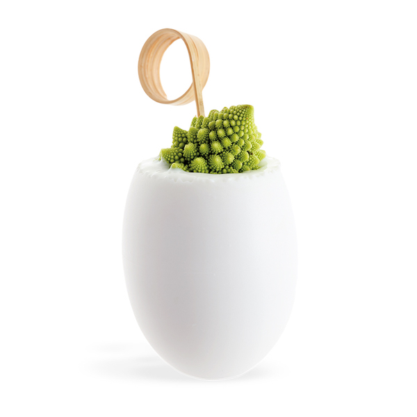 MIGNARDISE GRANDE COQUILLE OEUF BLANCHE MICRO-ONDABLE Ø48XH60 MM - 5 CL (20 U)