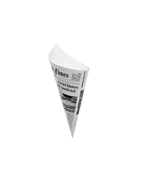 MIGNARDISE CONE «TIMES» EN CARTON RECYCLABLE Ø50 X H135 MM (100 U)