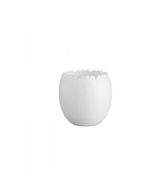 MIGNARDISE PETITE COQUILLE OEUF BLANCHE MICRO-ONDABLE Ø35XH42 MM - 3 CL (20 U)