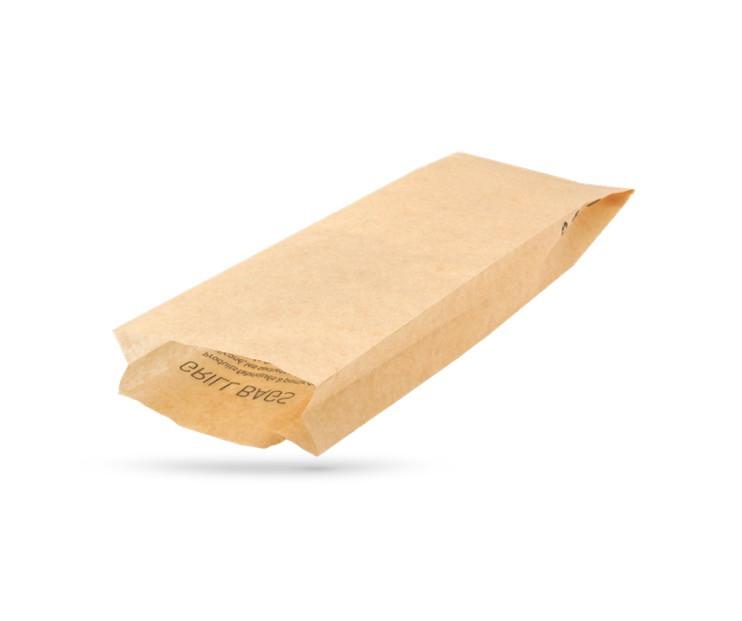 SAC SANDWICH CHAUD «GRILL BAG» NATUREL 41G/M2 11X3.5X33 CM (1000 U)