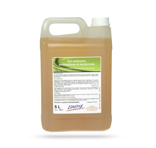 SAVON GEL MAIN ANTISEPTIQUE & BACTERICIDE LOMERAX 5L NORME NF (1 U)